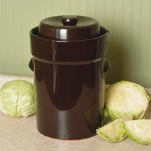 European-Style Fermenting Crock - 5-Liter