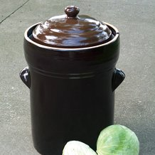 European-Style Fermenting Crocks - 20-Liter