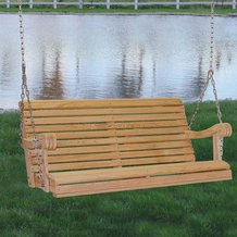Cypress 4 Ft Hanging Porch Swing Outdoor Furniture Lehman S