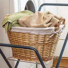 Split Willow Laundry Basket
