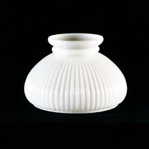 "7"" Opal Ribbed Oil Lamp Shade"