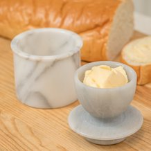 Marble Butter Crock
