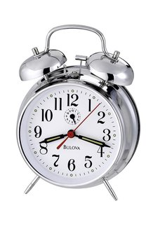 Chrome Twin Bell Alarm Clock
