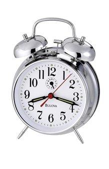 Chrome Twin Bell Alarm Clock