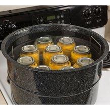 Black Enamelware Canner - 33 qt