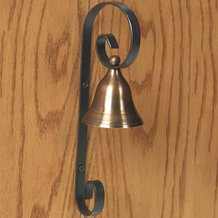 Antiqued Brass Shopkeeper's Bell
