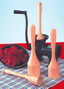 Wooden stompers for Meat Grinders