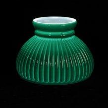 green ribbed oil lamp shade