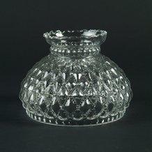 Clear Diamond Quilt Oil Lamp Shade