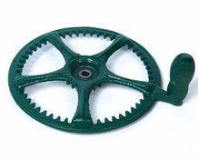 Crank Wheel with Handle for Reading Apple Peeler