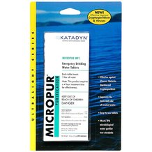 Katadyn Emergency Drinking Water Tablets