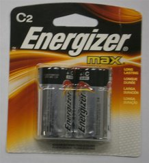2 C-Cell Energizer Batteries