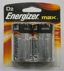 2 D-Cell Energizer Batteries