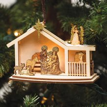 Handmade Nativity Scene Ornament