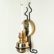 French Alps Brass Wall Oil Lamp with Old World Style