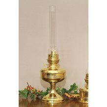 French Alps Brass Table Oil Lamp