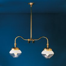 Falks Twin Chandelier Gas Lights