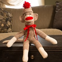 Hand-Sewn Sock Monkey