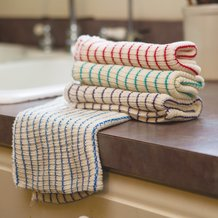 Double Layer Striped Dishcloths