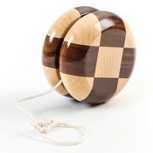 Checkered Wooden Yo-Yo
