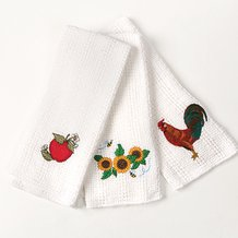Embroidered Kitchen Towels
