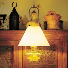 Aladdin Classic Tilt-Frame Oil Lamp with Opal Shade