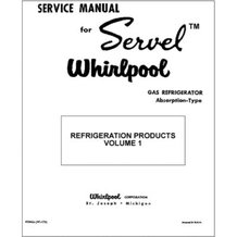 Service Manual for Pre-1960 Servel Gas Refrigerators