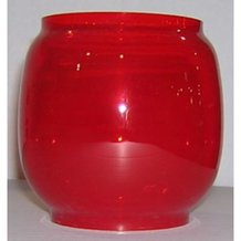 Red Globe for Dietz Lil' Wizard Oil Lanterns