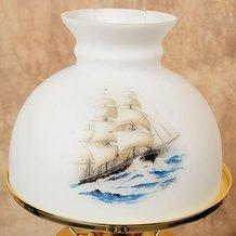 Aladdin Sailing Ship Glass Oil Lamp Shade