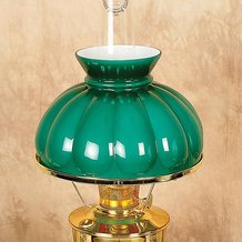 Aladdin Dark Green Melon Oil Lamp Shade