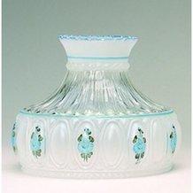 Aladdin Blue Rose Glass Oil Lamp Shade