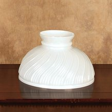 Aladdin Opal Swirl Glass Oil Lamp Shade