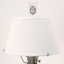 Aladdin White Cloth Pleated Oil Lamp Shade
