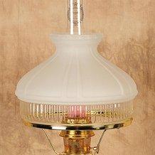 Aladdin White Top Glass Oil Lamp Shade