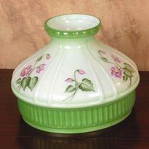 Aladdin Violet Floral Glass Oil Lamp Shade