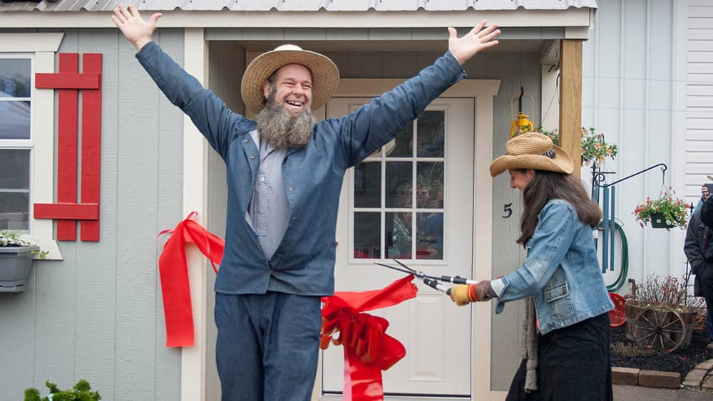 Popular You Tubers Off Grid with Doug and Stacy unveiled Lehman's Tiny House in April.  Doug and Stacy live completely without public utilities in a Tiny House on 11 acres in Missouri.