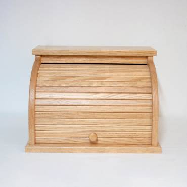 Oak Roll-Top Bread Box