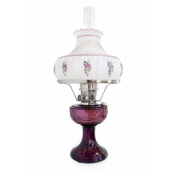 Aladdin Amethyst Lincoln Drape Lamp with Rose Shade