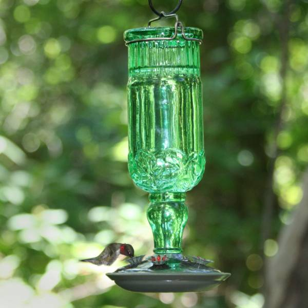 Hummingbird Green Vintage-Style Bottle Feeder 24 oz