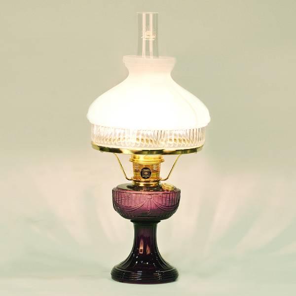 Aladdin Lincoln Drape Oil Lamp with White Top Shade