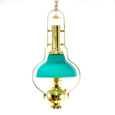 Aladdin Hanging Brass Chandelier Oil Lamp