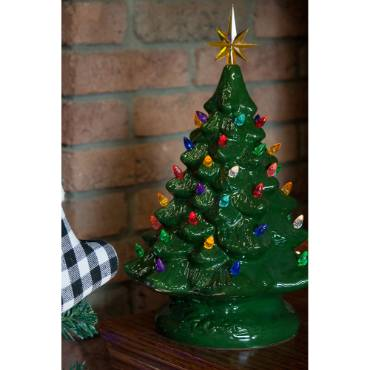 Lighted Ceramic Christmas Tree