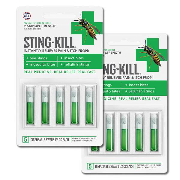 Sting Kill Disposable Swabs - Two Packs