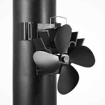 Four-Bladed Magnetic Stove Fan