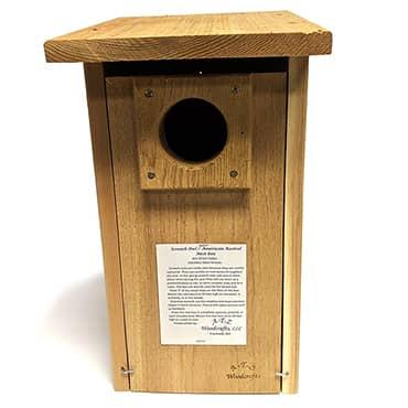 Screech Owl and American Kestrel Nest Box