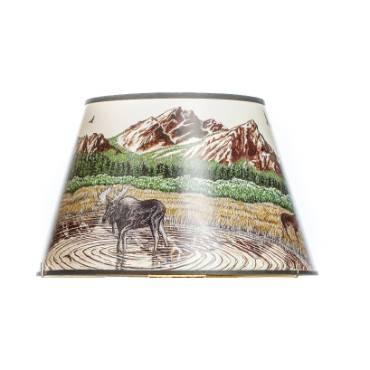 Aladdin Rocky Mountain High Parchment Oil Lamp Shade