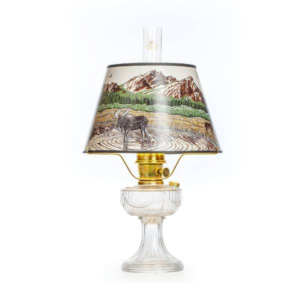 Aladdin Lincoln Drape Oil Lamp with Rocky Mountain Shade