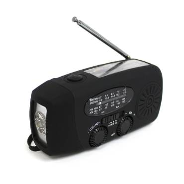 Hand-Cranked Emergency AM/FM Radio and Flashlight