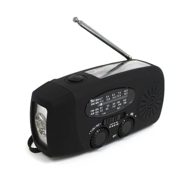 Hand-Cranked Emergency AM/FM Radio and Flashlight
