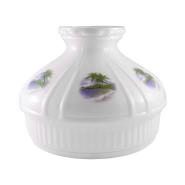 Aladdin Beach Paradise Glass Oil Lamp Shade